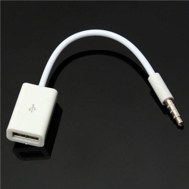 AUX ses kablosu 3,5 mm - dişi USB 1