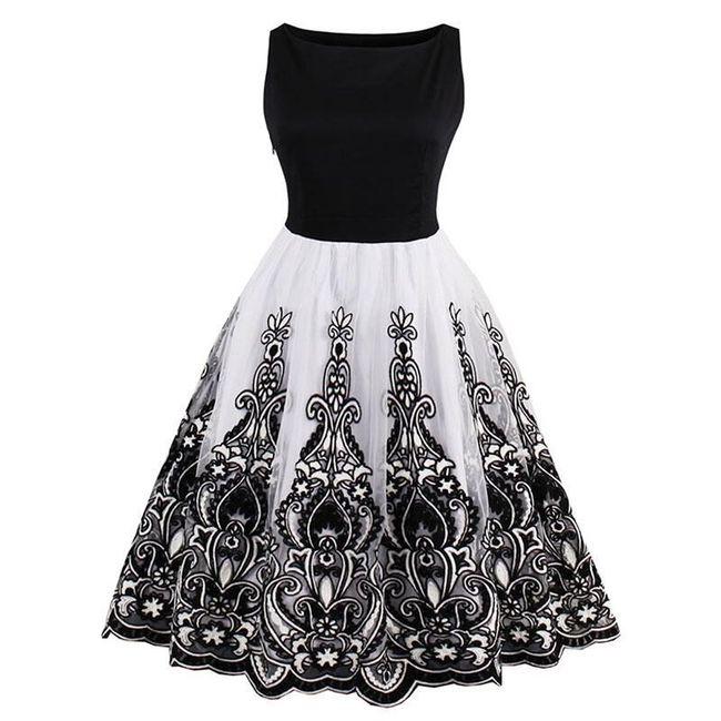 Dámské vintage společenské šaty - Černá-velikost č. 7 1