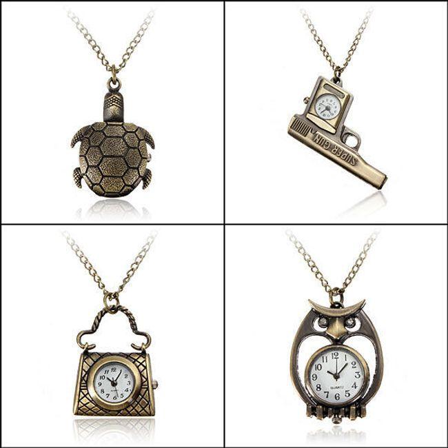 Oryginalny naszyjnik z zegarkiem - oferujemy 4 rodzaje 1