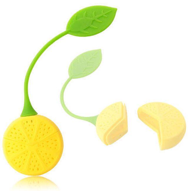 Silikonové sítko na čaj - citrón 1
