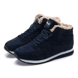 Pánske zimné topánky s kožušinkou - 2 farby