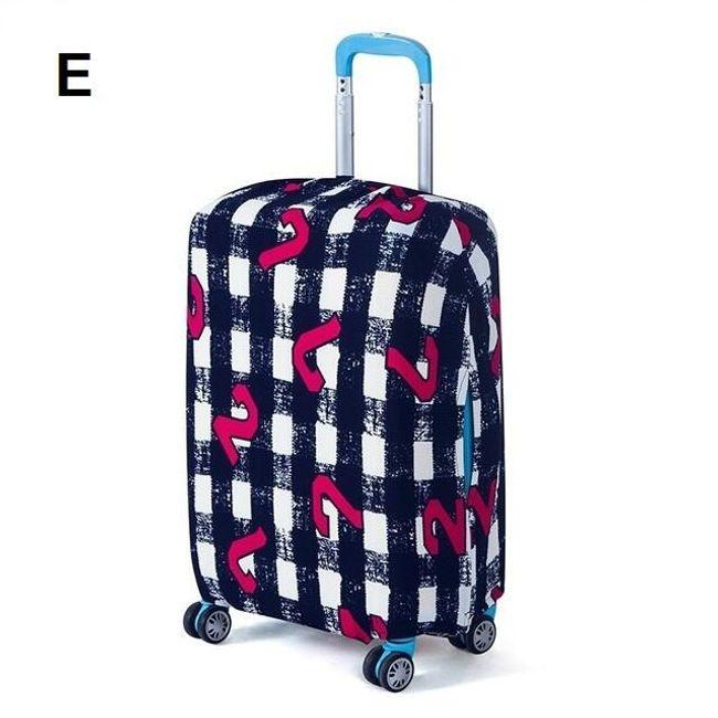 Színes bőrönd utazási fedél - három méret  sok minta