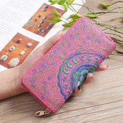Peňaženka s vyšitou mandalou