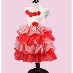 Dívčí šaty s růžičkami - 3 varianty