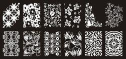 Šablona na zdobení nehtů - originální ornamenty