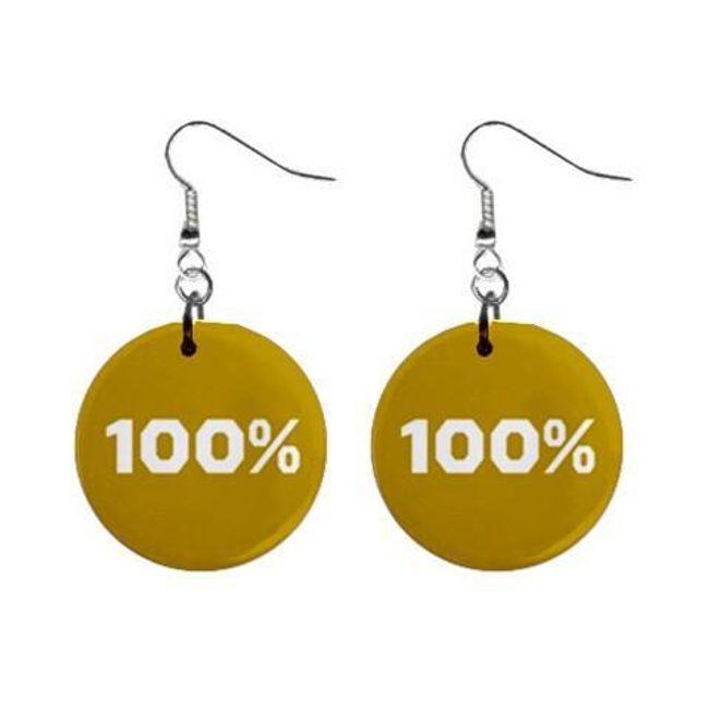 Круглые плоские серьги- 100% 1