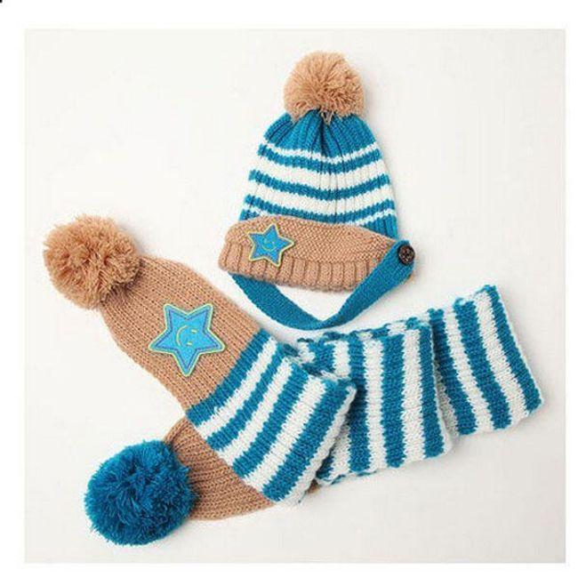 Зимен комплект за деца - шапка + шал 1