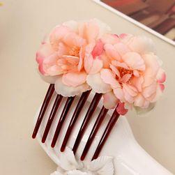Hřebínek do vlasů - s květinami