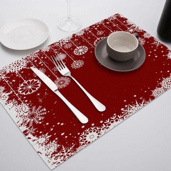 Bożonarodzeniowe nakrycie stołu Wv45 1