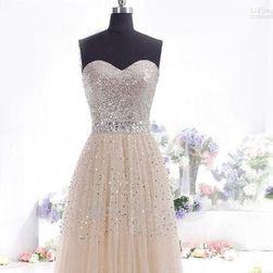 Длинное платье без бретелей - 4 цвета