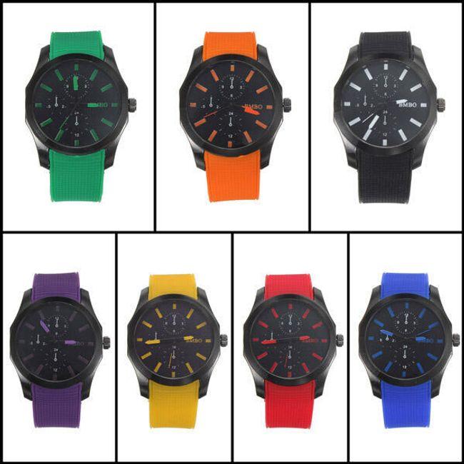 Silikonové hodinky UNISEX - 7 barev 1