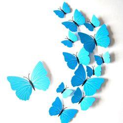 Autocolant 3D pentru perete - fluturi albaștri