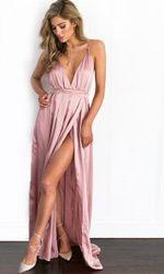 Damska sukienka z rozcięciem - 7 kolorów