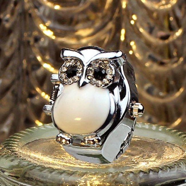 Kapesní hodinky pro dámy - sova 1
