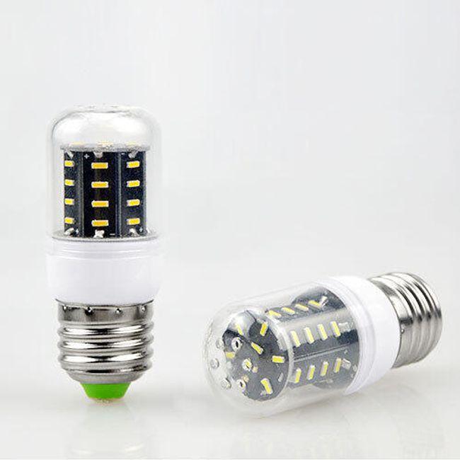 E27 3V LED žarnica s 36 diodami - 2 svetli barvi 1