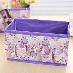Úložný box na kozmetiku - fialová