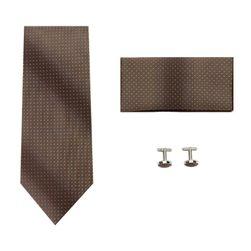 Sada kravaty, manžetových knoflíčků a kapesníku