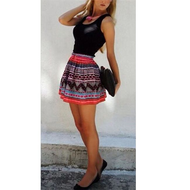 Mini haljina bez rukava - crna 1