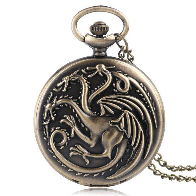 Kapesní hodinky - drak 1