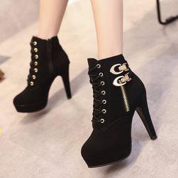 Női magas sarkú cipő Fekete-méret 37