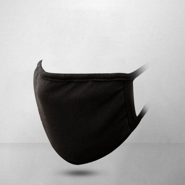 Rouška proti jemnému prachu v černé barvě 1
