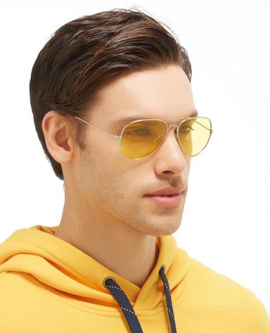 Polarizované sluneční brýle ve žluté barvě 1