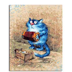 Malování podle čísel - hrající kočka