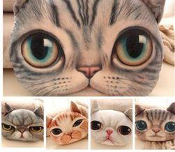 3D плюшевая подушка и виде кошачьей головы