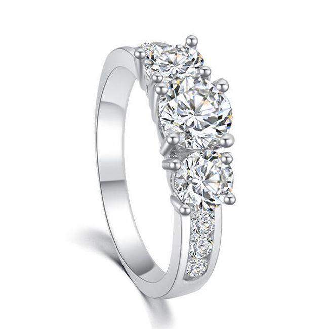 Dámský prsten s nápaditými kameny - 2 barvy 1