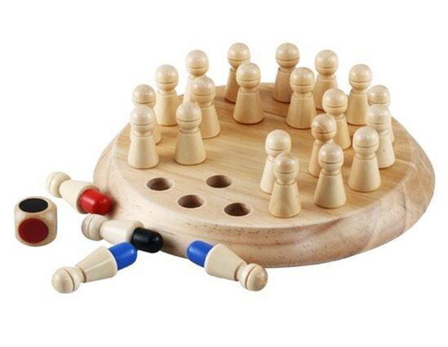 Dřevěné šachy na procvičení paměti 1