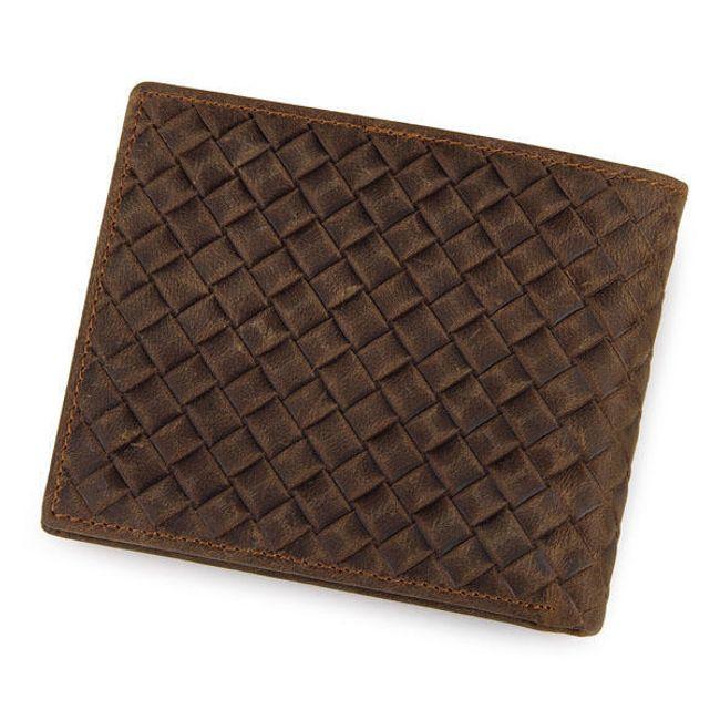 Kockás férfi pénztárca  barna elegancia