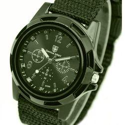 Pánske vojenské hodinky - 3 farby Zelená
