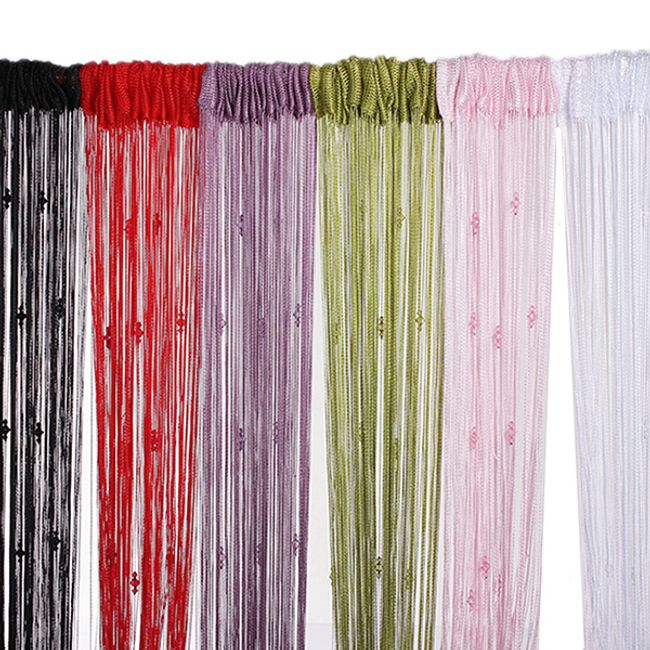 Razkošna vrvnata zavesa z cirkoni 1