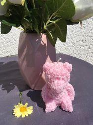 Svíčka růžový medvídek