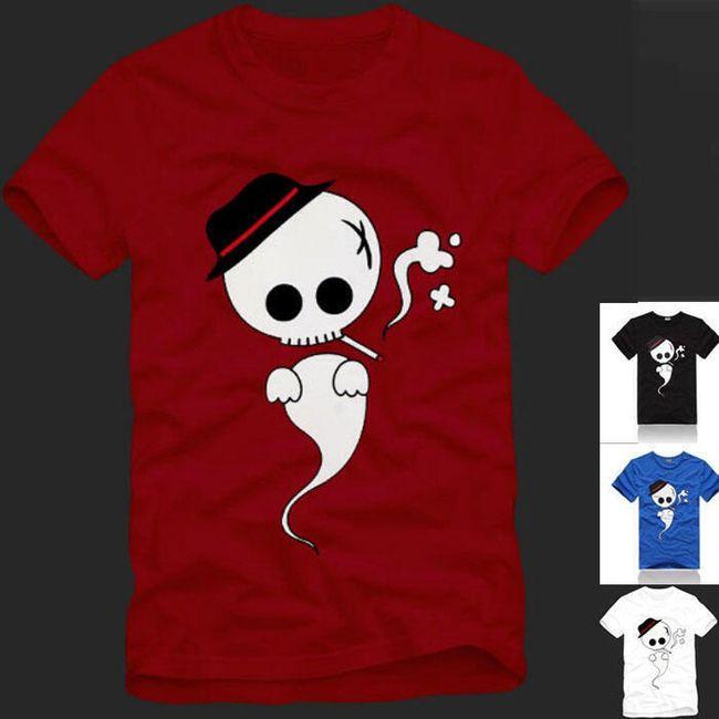 Stylové pánské tričko s duchem - 4 barvy 1