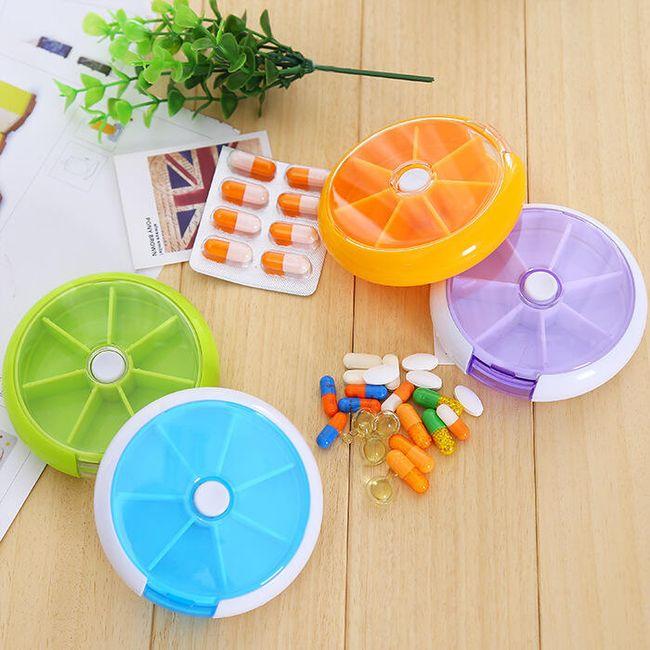 Cutie pentru pastile în design rotund 1