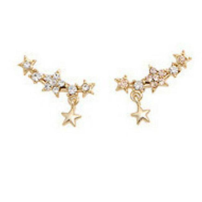 Náušnice s hvězdičkami a kamínky 1