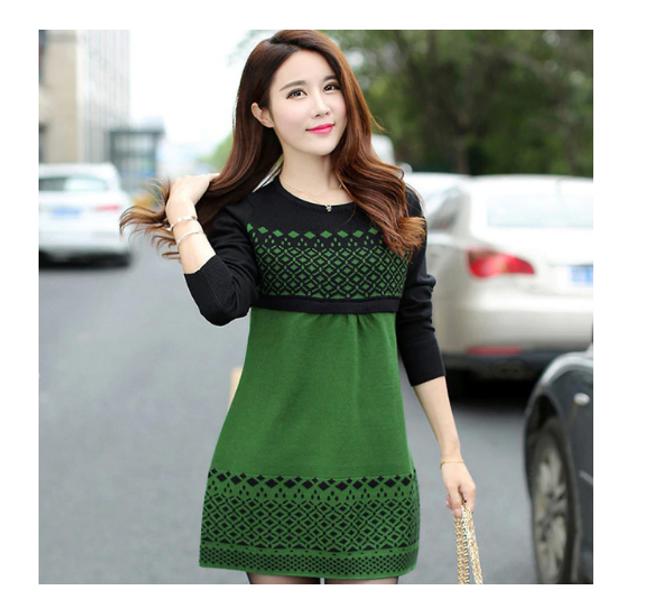 Podzimní dámské šaty 1
