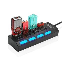 USB HUB kapcsolókkal - 4 port