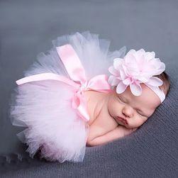 Suknja i traka za kosu za slikanje beba