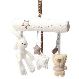 Karuzela dla niemowląt z pluszowymi zabawkami