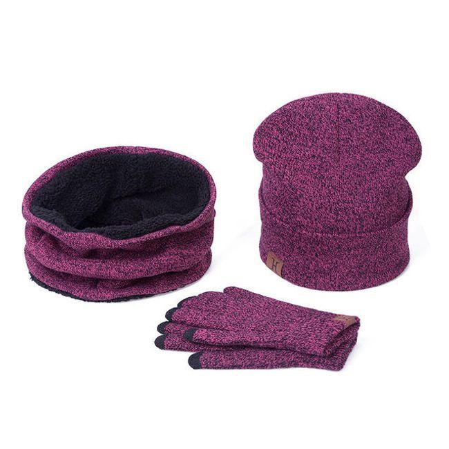 Zimski komplet - kapa, šal, rokavice 1