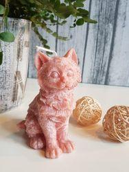 Lumânare pisică maro