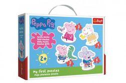Puzzle pro nejmenší Prasátko Peppa/Peppa Pig 18 dílků v krabici 27x19x6cm 2+ RM_89136086