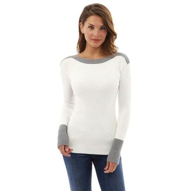 Dvoubarevný svetr - 3 varianty 1