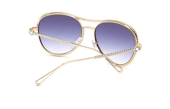 Sluneční brýle s třpytivými kamínky v různých barvách 1