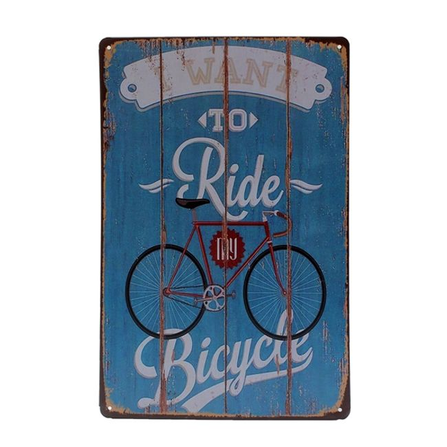 Fém retro kerékpár jel 1