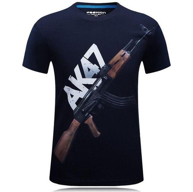 Fegyverrel nyomtatott férfi póló - 7 változat