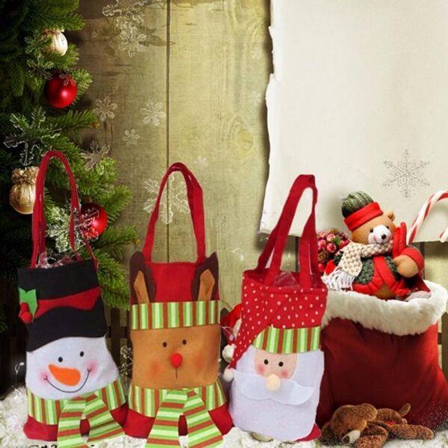 Рождественский подарочный пакет из фланелевого материала 1