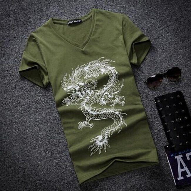 Férfi trikó sárkánynyomattal - 5 szín